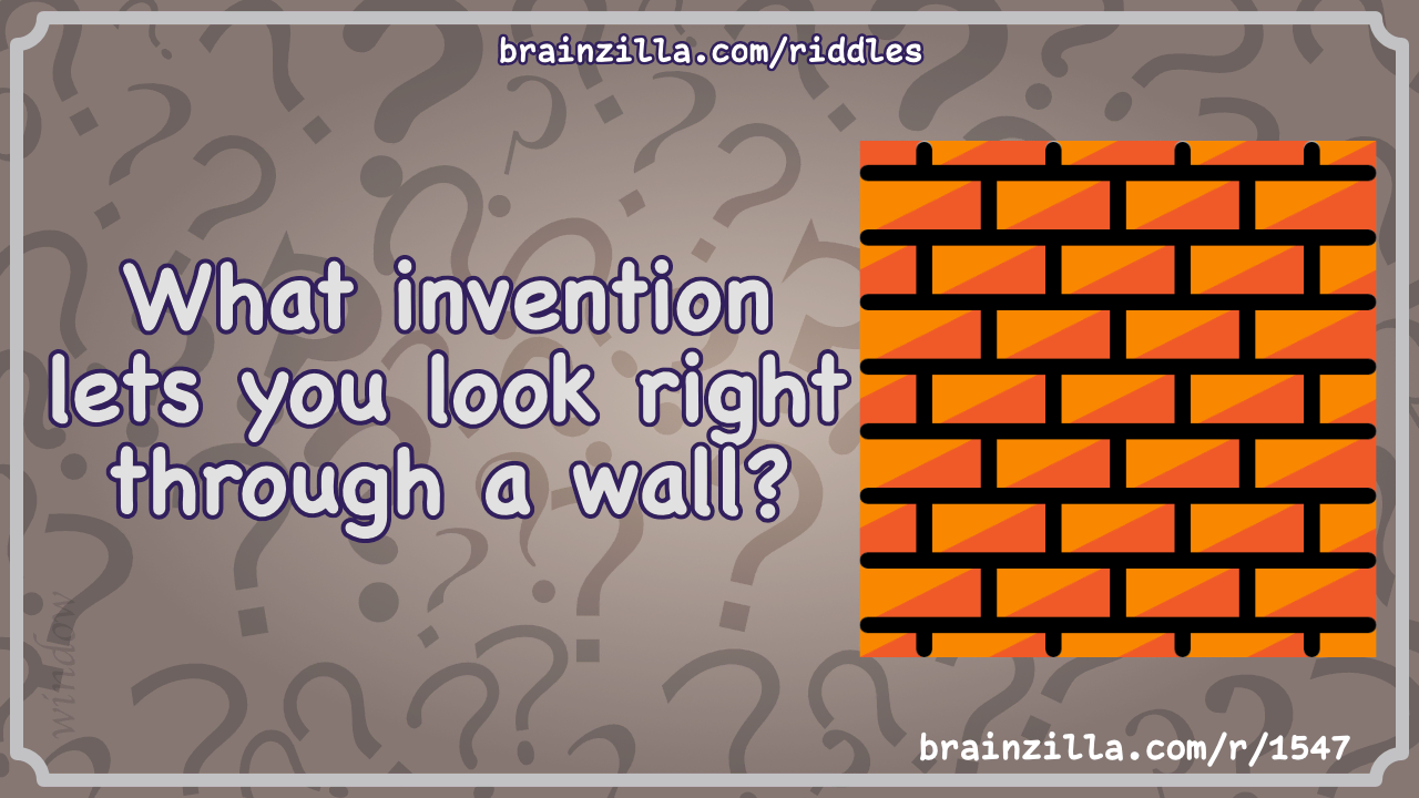 What invention lets you look right through a wall?