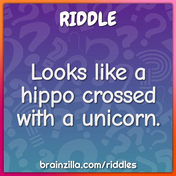 Looks like a hippo crossed with a unicorn.